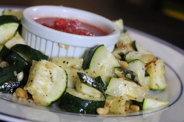 Roasted Zucchini with Pine Nuts