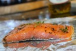Seasoned salmon fillet