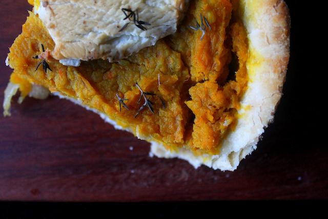 Pumpkin & Goat Cheese Tart
