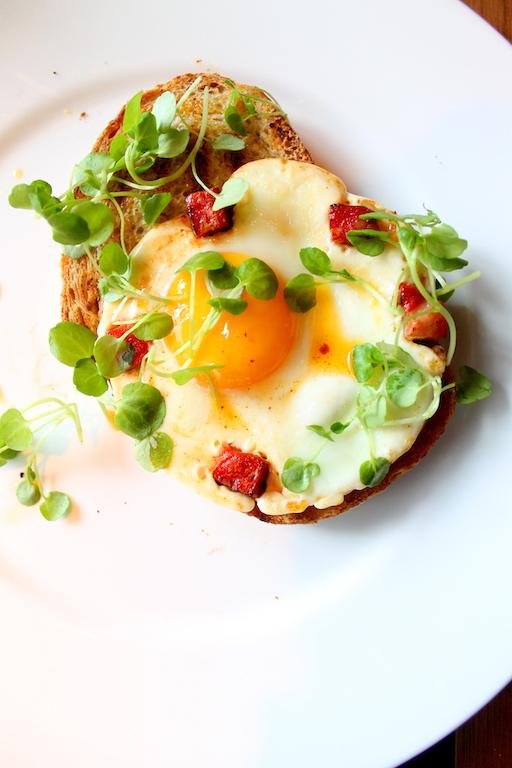 Yorkshire chorizo & Fried Duck Egg on toast