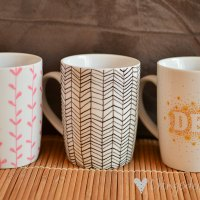 Loving...decorated mugs {DIY}