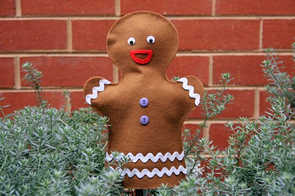 Gingerbread Man Puppet