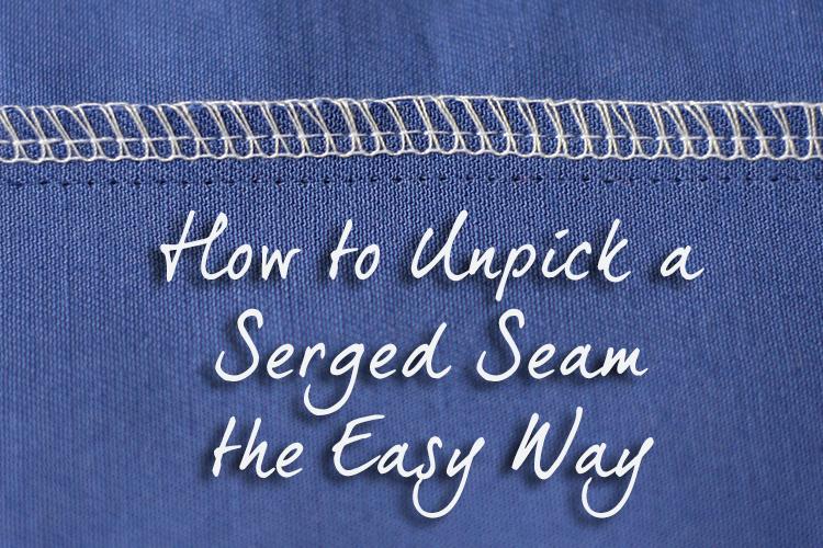 Unpick a Serged Seam