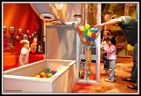 Young visitors enjoy hands-on learning at fun, interactive stations in the I Explore exhibit at Liberty Science Center | things to do in Jersey City NJ