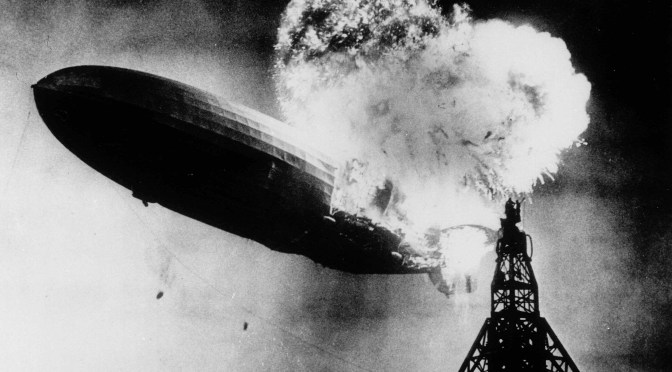 On This Date In New Jersey History - May 6, 1937 - The German airship Hindenburg explodes as it attempts to dock at Naval Air Station Lakehurst in New Jersey. 36 people were killed in the fiery tragedy. | find out more at www.thingstodonewjersey.com | #nj #newjersey #history #important #dates #events #lakehurst #hindenberg #disasters #history