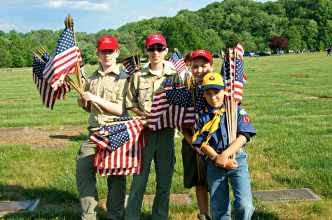 Memorial Day 2015 in New Jersey - Flag Placement with the Boy and Girl Scouts at Brigadier General William C. Doyle Memorial Cemetery | find out more at www.thingstodonewjersey.com | #nj #newjersey #wrightstown #veteranscemetery #memorialday #events