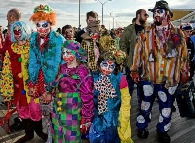 Zombie clowns at the record-breaking Asbury Park Zombie Walk. Photo Credit: Bob Jagendorf via Flickr