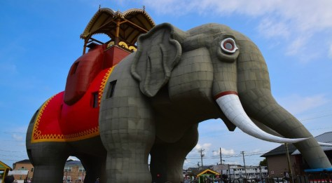Lucy the Elephant has been a beloved New Jersey landmark for more than 130 years. | things to do in margate nj | jersey shore attractions | new jersey landmarks | nj landmarks