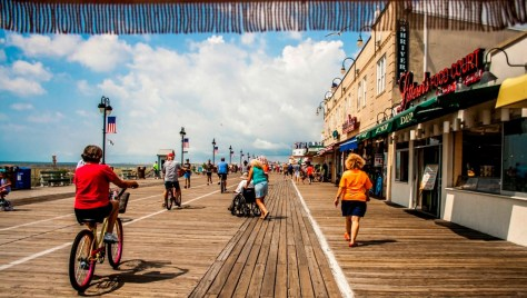Beautiful day on the Ocean City NJ boardwalk. | best boardwalk in NJ | best boardwalk in New Jersey | NJ boardwalks | New Jersey boardwalks | battle of the boardwalks NJ