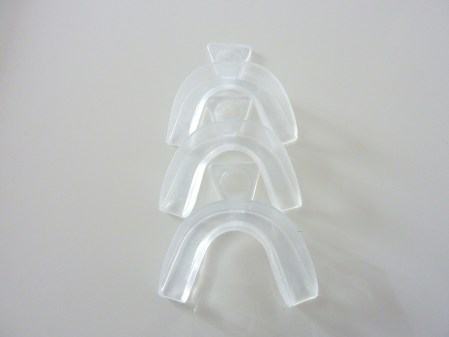 Thermoforming boil and bite teeth bleaching trays