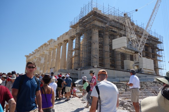 Parthenon, Temple of Goddess Athena at Acropolis. Converted to Church by Romans and Mosque by Ottoman
