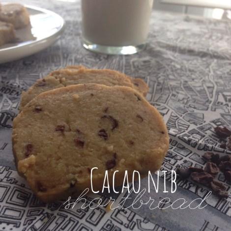cacao nib shortbread