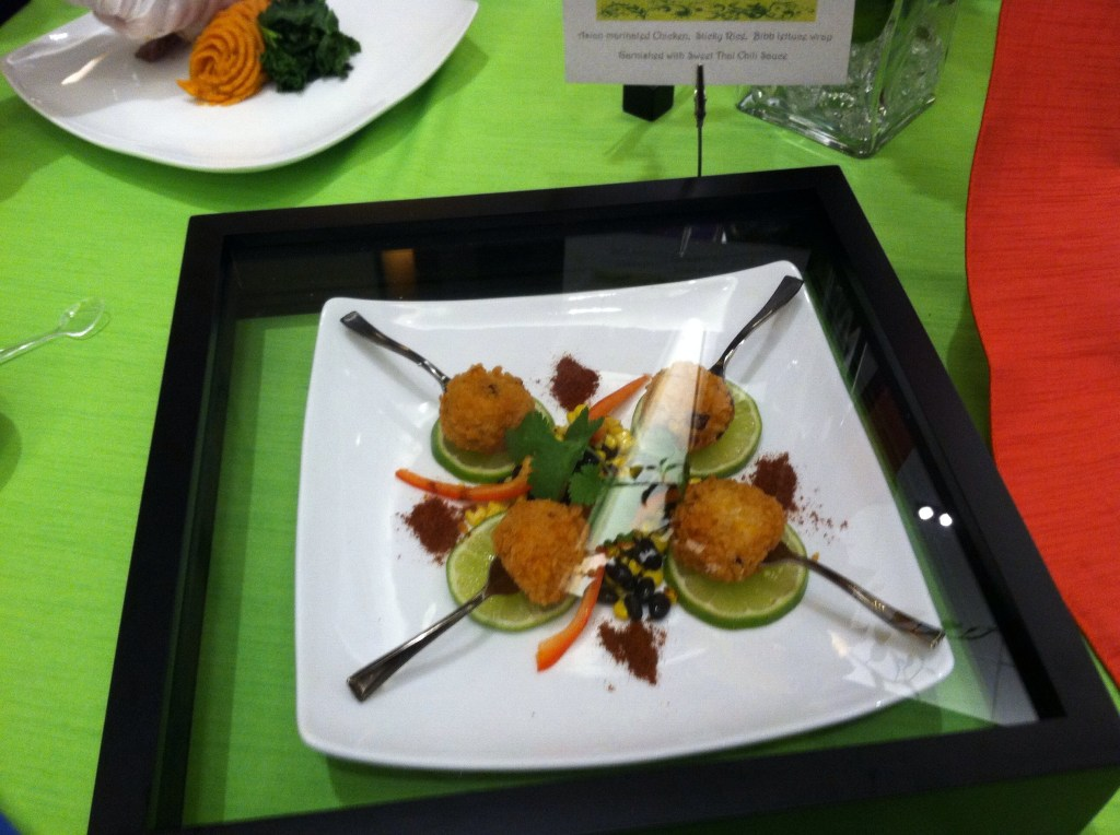 Savor the Flavor Catering's Bridal show booth