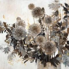 transitional floral, seattle art, flowers, dandelions, contemporary