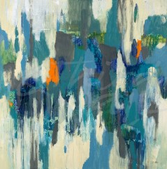 seattle art, contemporary, abstract, blue