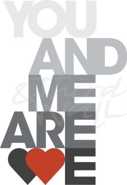 typography, lettering, love, family, romance, romantic, seattle art