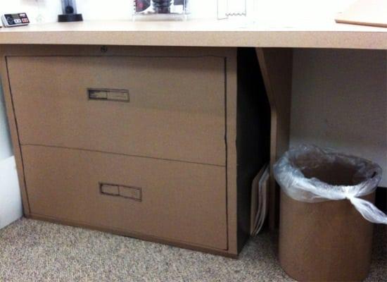 Awesome Cardboard Desktop Storage Box  Modern  Filing Cabinets