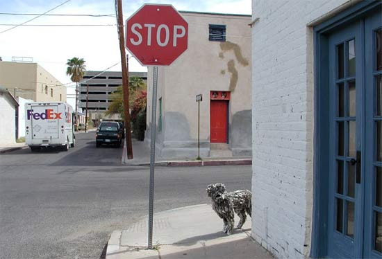 sculpture-newspapers-street