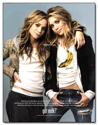 olsen twins milk ad