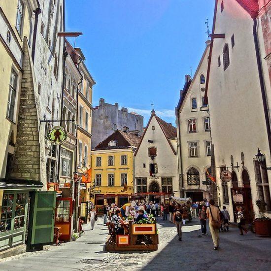 Estonia Tallinn.Tallinn Old Town