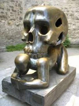 man-and-skull