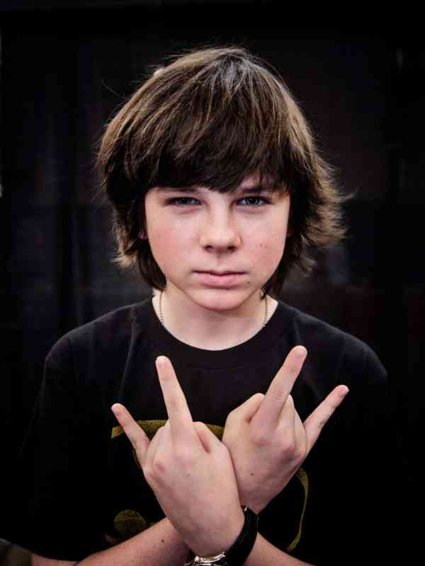 Worse than Joffrey Baratheon? Possibly Carl Grimes as portrayed by Chandler Riggs.