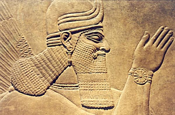 Mesopotamian Engraving on Wall
