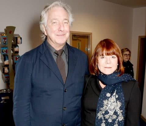 One of the esser known facts about Alan Rickman is that he only recently married Rima Horton.