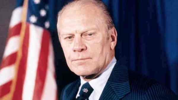 Gerald Ford is the only man on this list that did not die during his term.