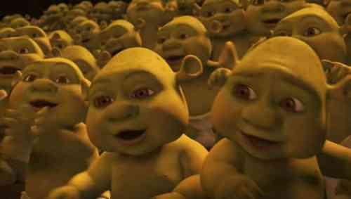 Shrek's kids were long displayed before the movie hit cinemas.