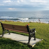 Newbiggin By the Sea - seat with a view