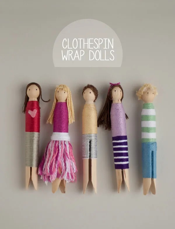 Clothespin Wrap Dolls | this heart of mine
