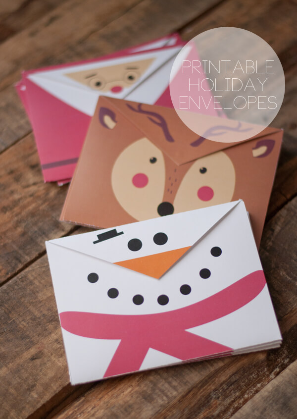 Crush image inside printable christmas envelopes