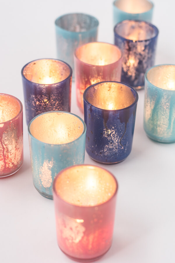 Make Your Own Colored Mercury Glass Votives | this heart of mine