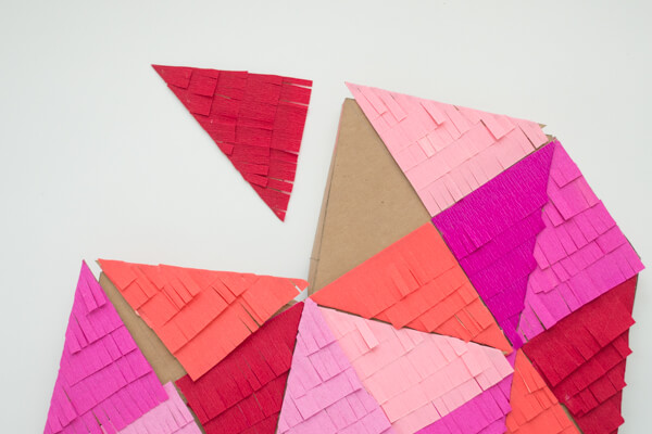 A Bright, Colorful & Fringe-Filled Geometric Heart DIY | this heart of mine