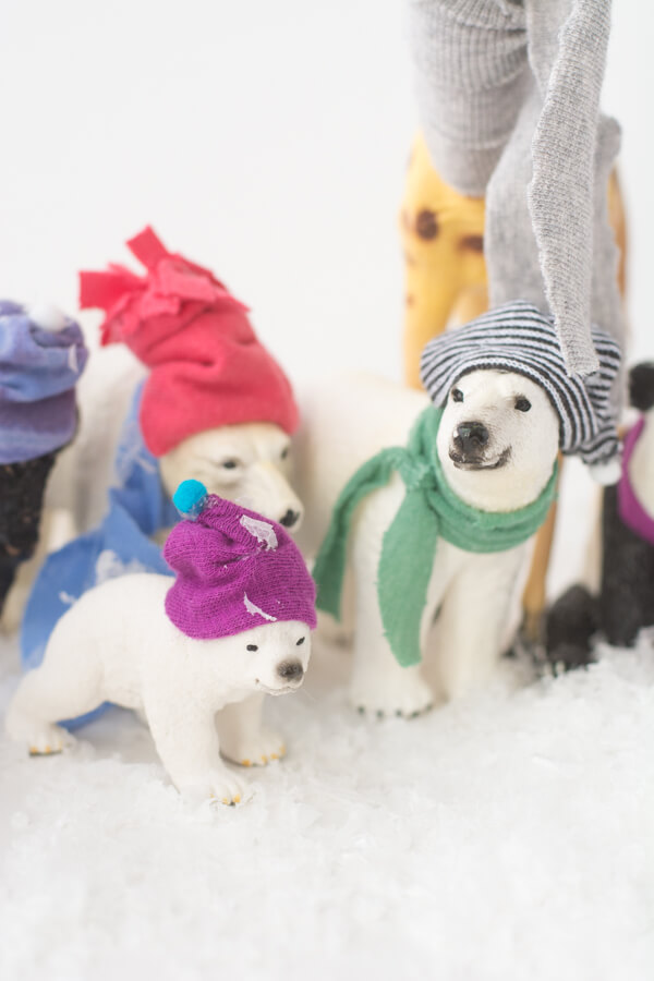 How to Make Stocking Hats for Plastic Animals | this heart of mine