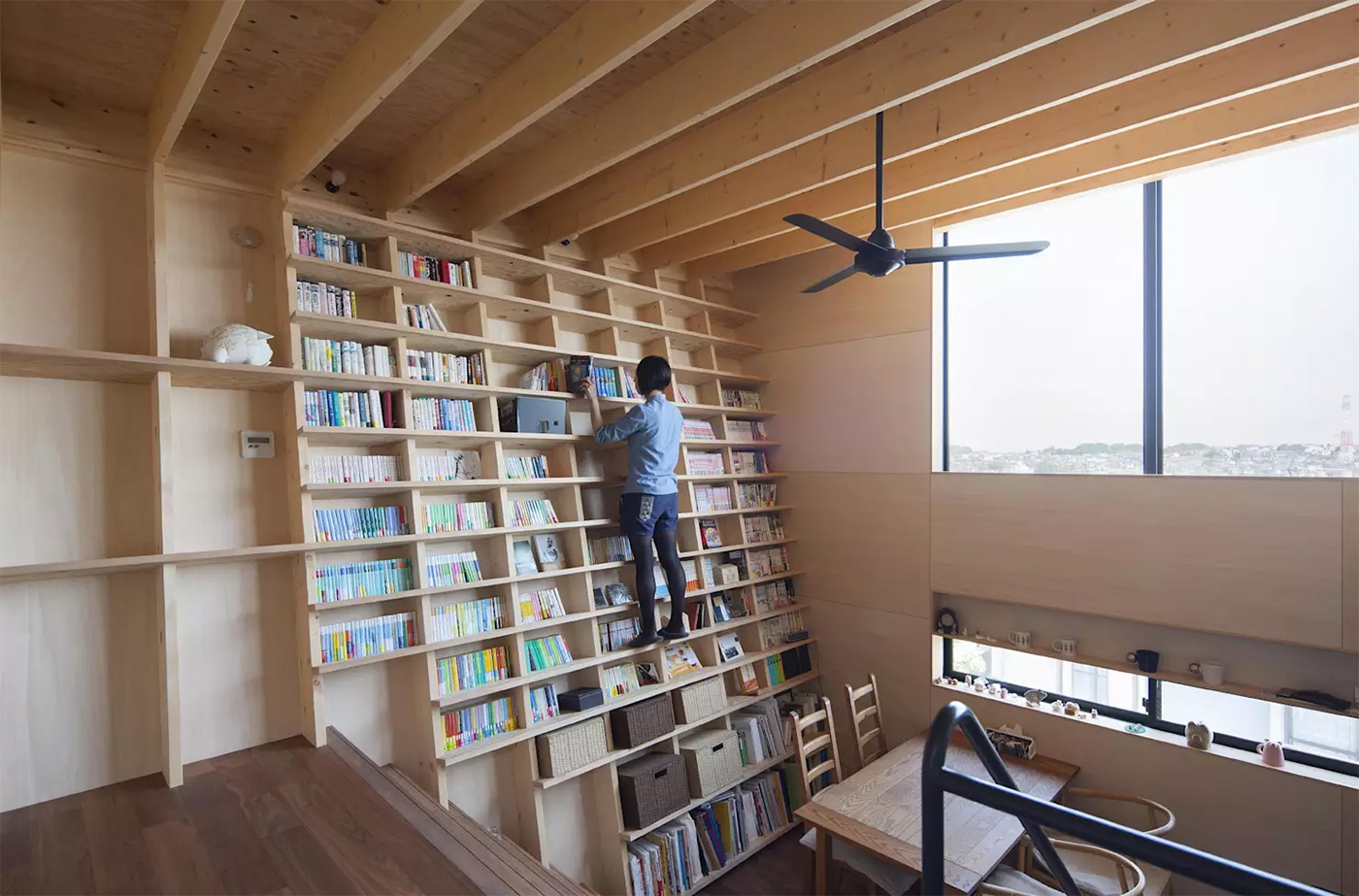 Pretty Any Though Accessing Shelves Can Be A A Japanese Home Designed Around A Climbable To Ceiling Bookshelves Library To Ceiling Bookshelves Bookshelves Are Fireplace Can Act As A Focalpoint houzz-03 Floor To Ceiling Bookshelves
