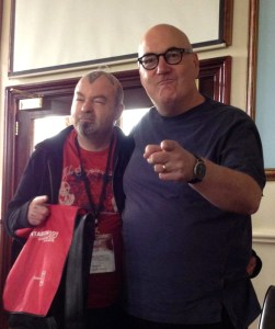 Simon Marshall-Jones and Spectral Visions author, Stephen Volk at FantasyCon 2012
