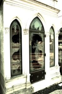 Cemetery Tomb Glass