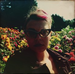 Self Portrait with Dahlias - Conservatory of Flowers