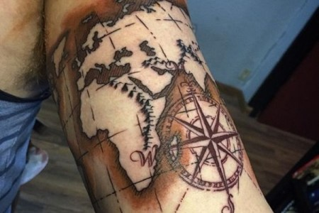 map tattoo designs 80