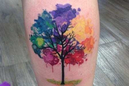 artisticly rich watercolor tattoo designs 124