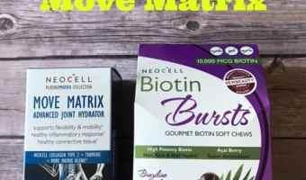 Neocell Biotin Bursts + Move Matrix + Giveaway! @NeocellHealth