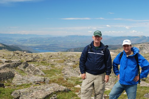 Brad and Sterling on Flattop Mountain
