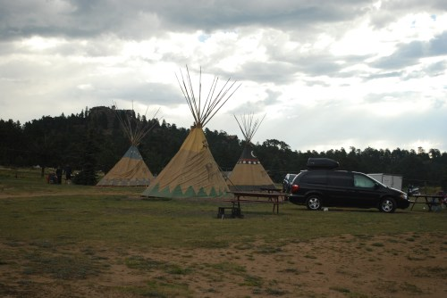 Tee Pees at Elk Meadow Lodge and RV Park