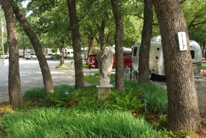 Statue in campground