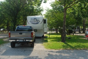 Picture of camper in campground