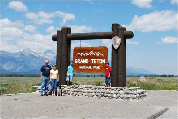 Entry sign at Grand Teton National Park