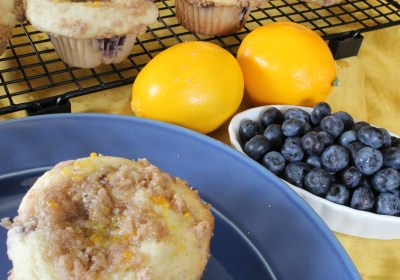 Blueberry Muffin Crumble with Lemon Glaze