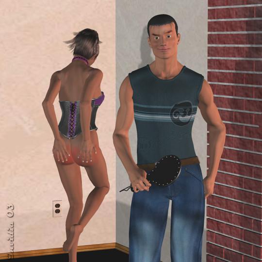 naked spanking dance